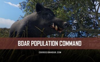 RUST Boar Population Command