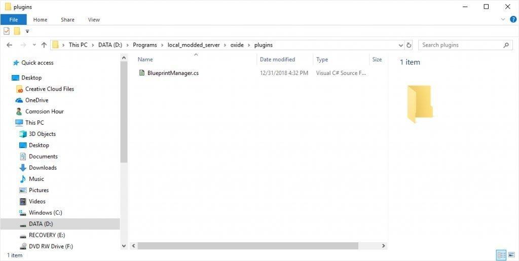 RUST Server uMod Plugins Folder