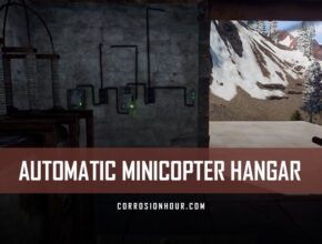 RUST Electricity Automatic Minicopter Hangar