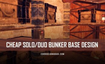 RUST Cheap Solo/Duo Bunker Base Design 2019