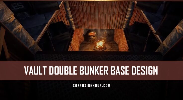 RUST Vault Double Bunker Base Design 2019
