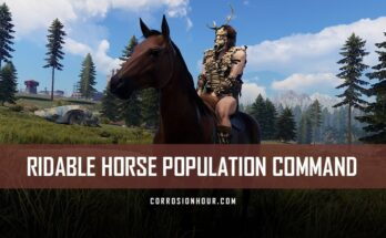 RUST Ridable Horse Population Command