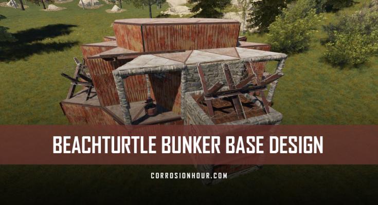 RUST Beachturtle Bunker Base Design 2019