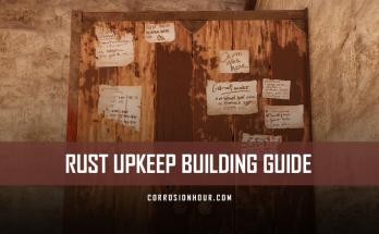 RUST Upkeep Building Guide