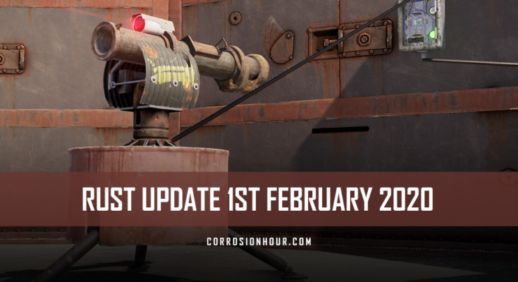 RUST Update 1st February 2020
