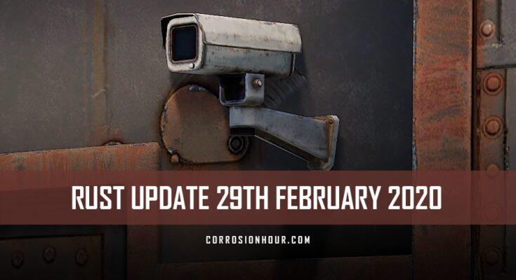 RUST Update 29th February 2020