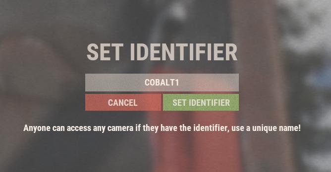 Set Identifier Input Screen