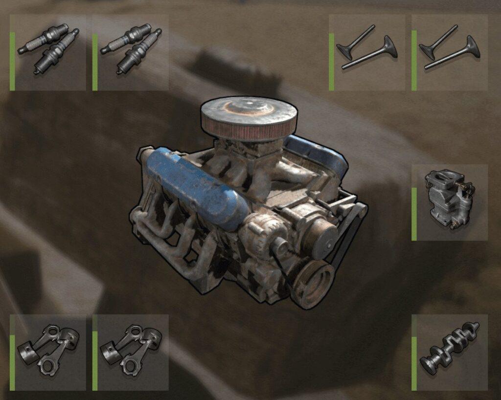 RUST Modular Cars 5 Engine Block Components