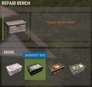 Skin options for the large wood box