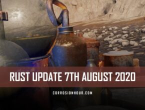 cover image for the August 7th RUST update