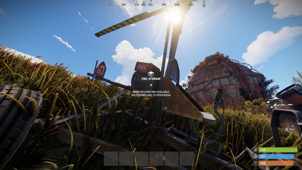 Refueling Minicopters in RUST