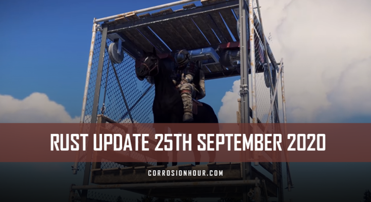 RUST Update 25th September 2020
