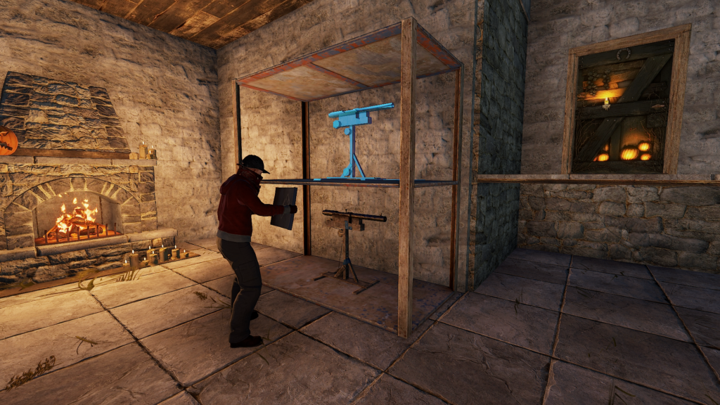 Placing Shotguntrap Traps on Items in RUST
