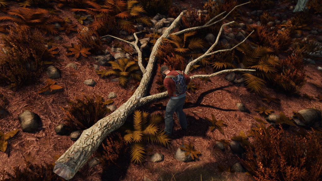 Harvest Fallen Branches for Wood in RUST