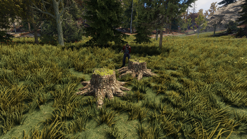 Wood Stumps in RUST