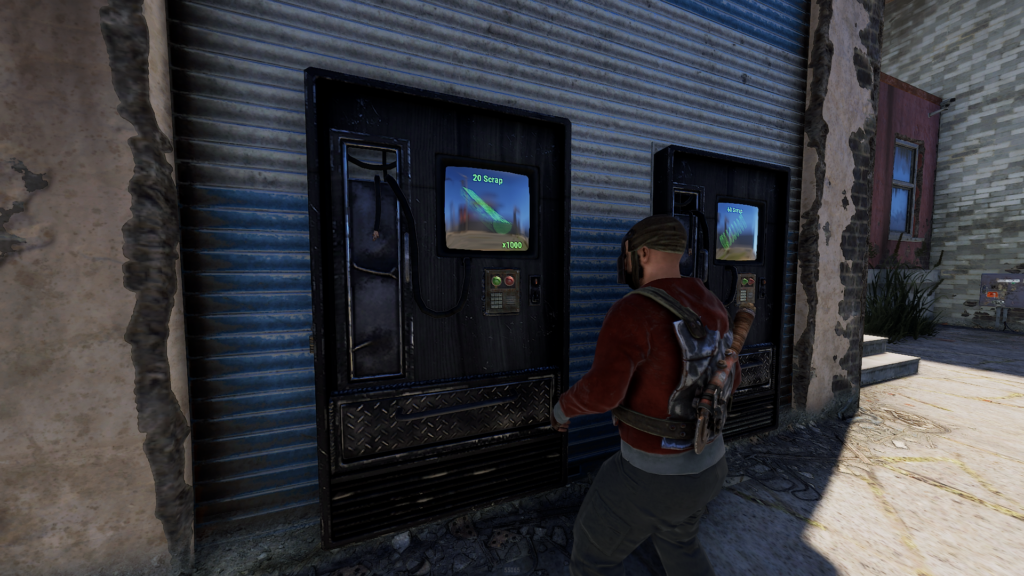 Purchasing Wood at the Outpost in RUST