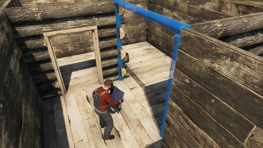 Building with Doors in RUST