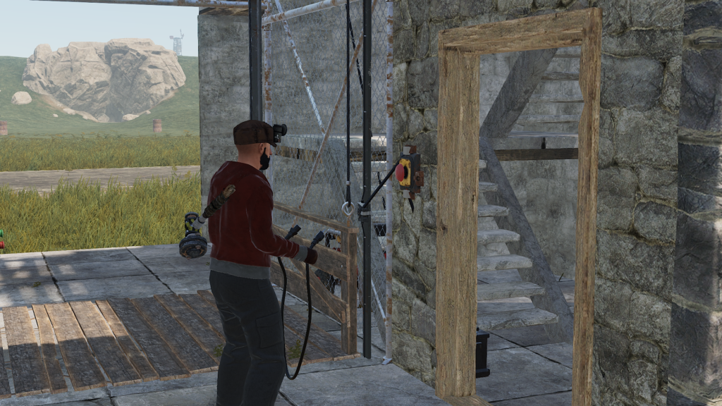 Call switch for RUST elevator