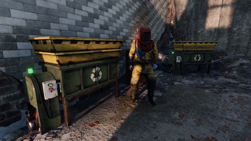 Recycling components is a great way to obtain gears in RUST