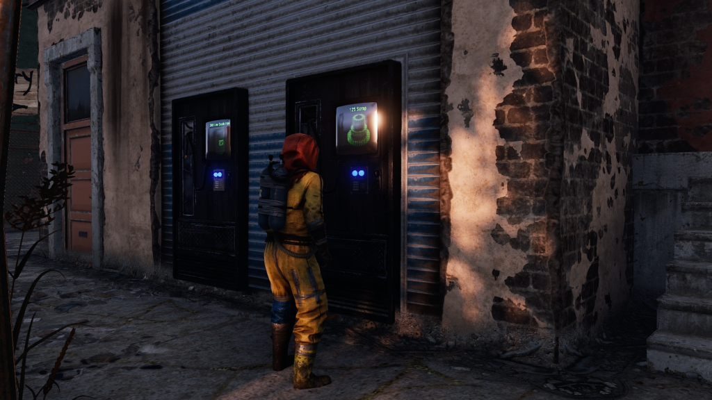 Purchase Gears in the Outpost Monument from a Vending Machine