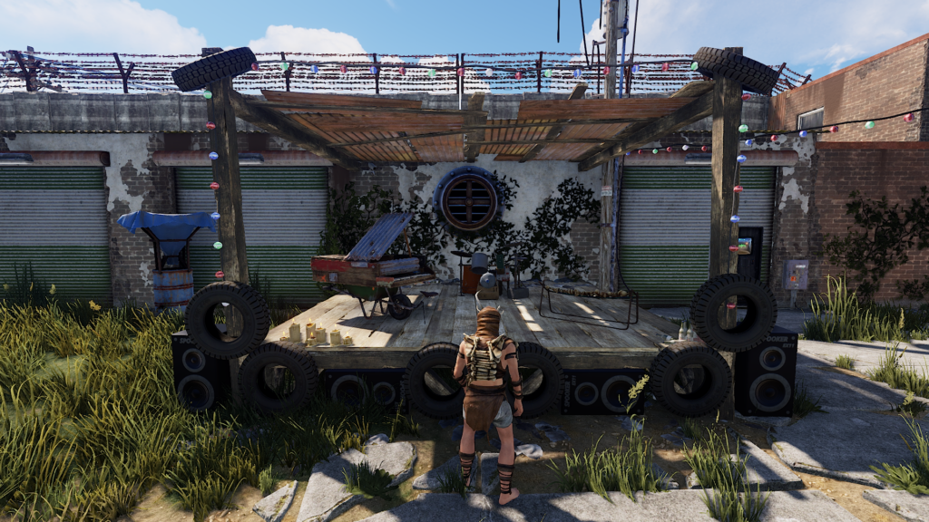 RUST Player Staring at Outpost Music Stage