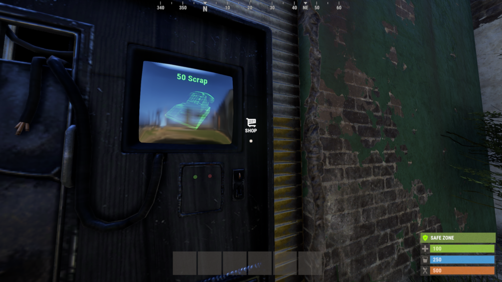 Purchase Phones from the Outpost Monument in RUST