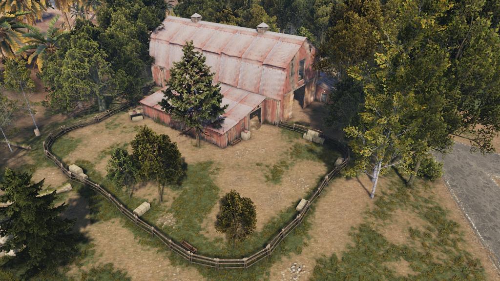 RUST Large Barn Monument