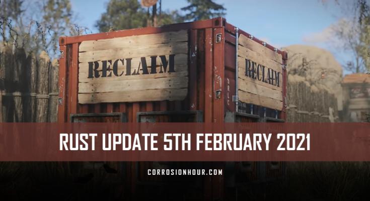 RUST Update 5th February 2021