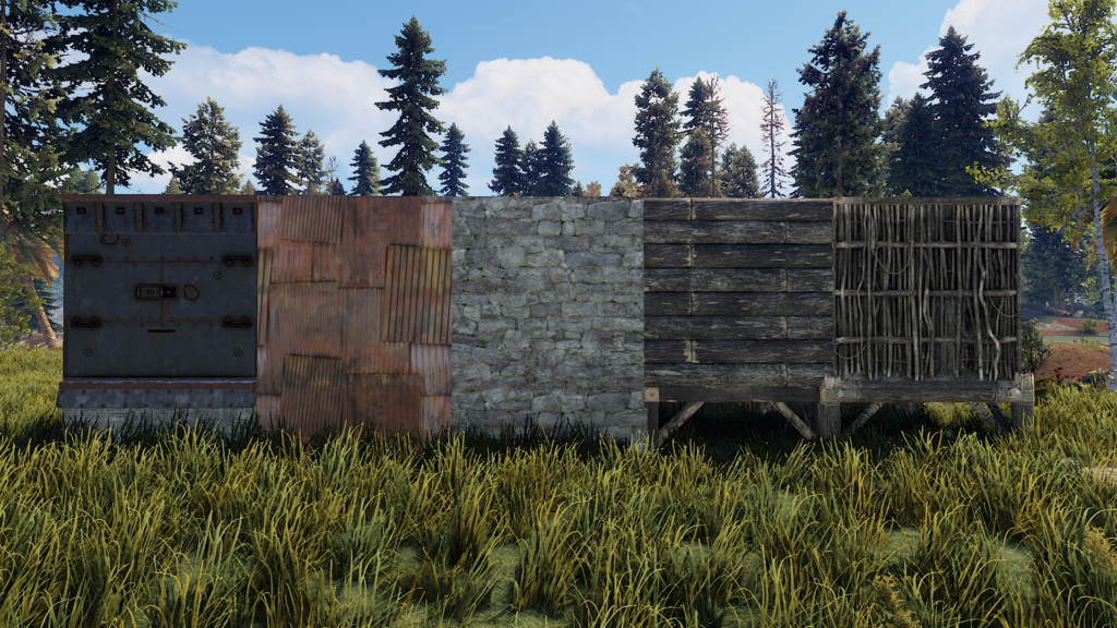 5 Different types of Walls in RUST