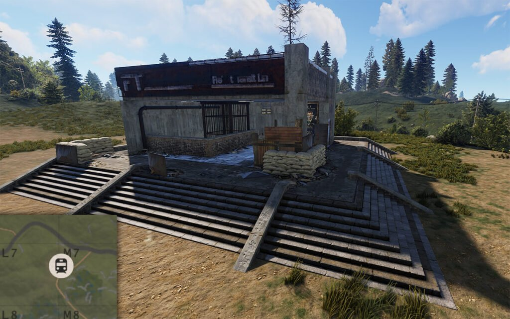 screenshot of the new rust transit station