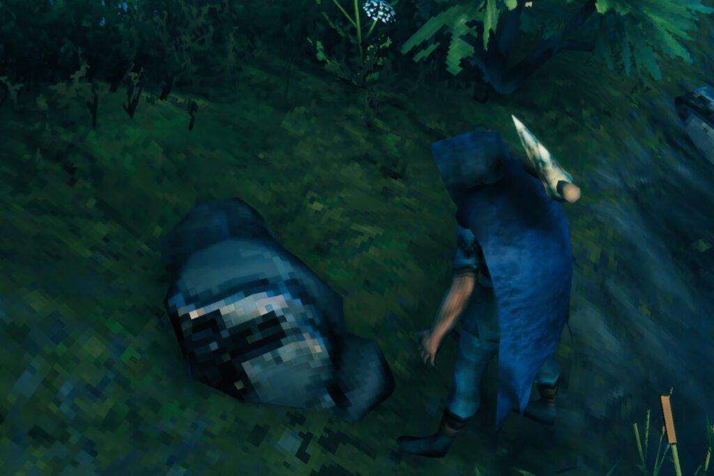 screenshot of player mining tin ore