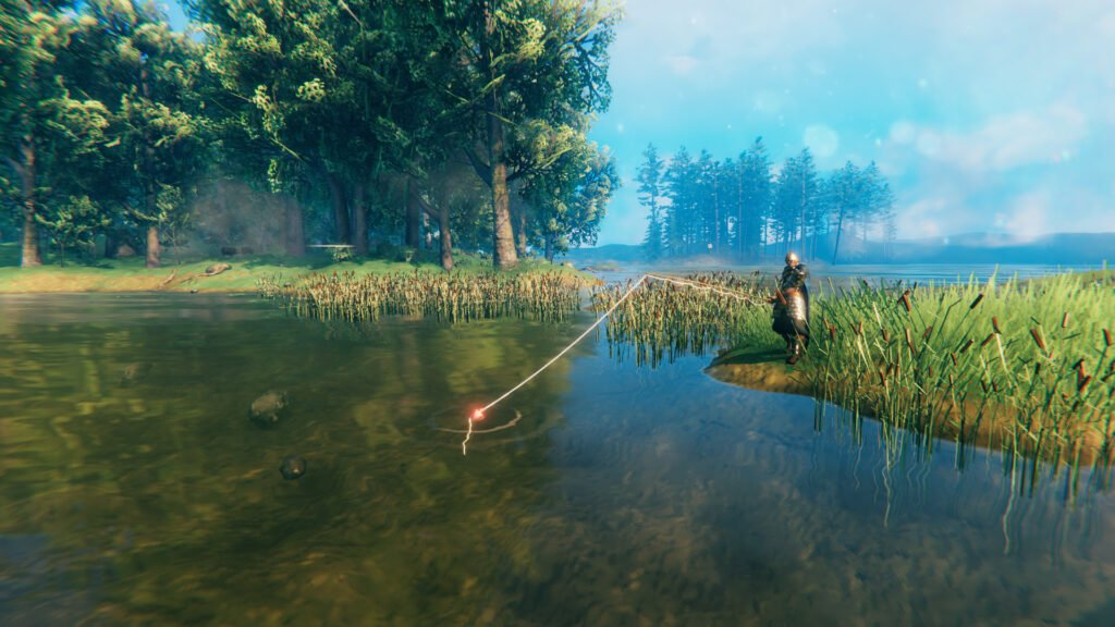 Trying Out Different Locations to Fish in Valheim