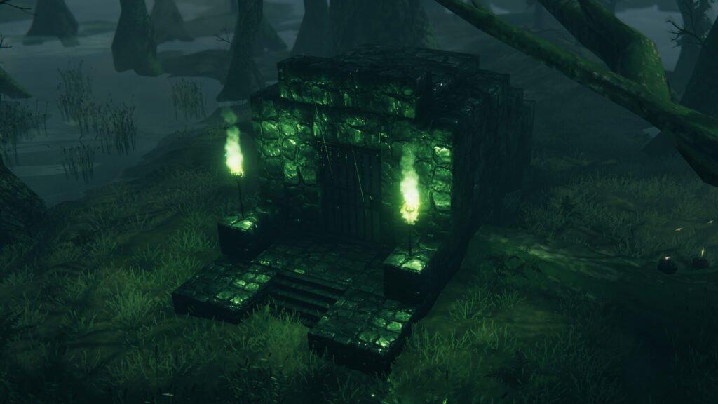 screenshot of a swamp crypt exterior