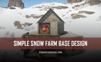 RUST Simple Snow Farm Base Design