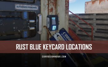 RUST Blue Keycard Locations