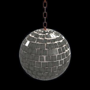 rust disco ball