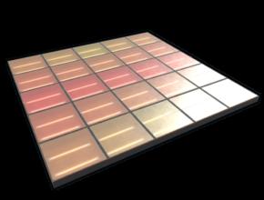 rust disco floor large tiles