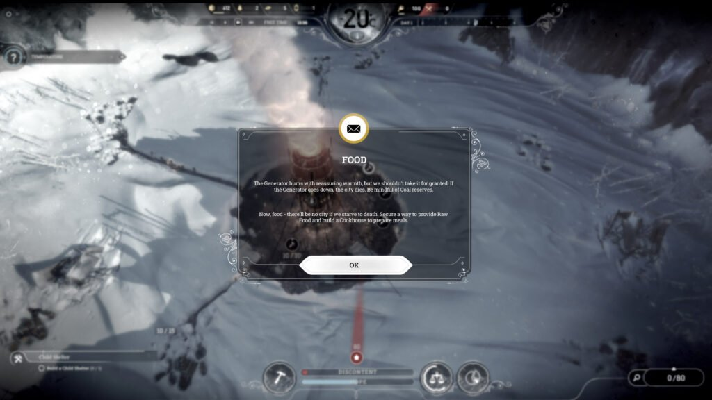 Frostpunk story arcs guide you through the game