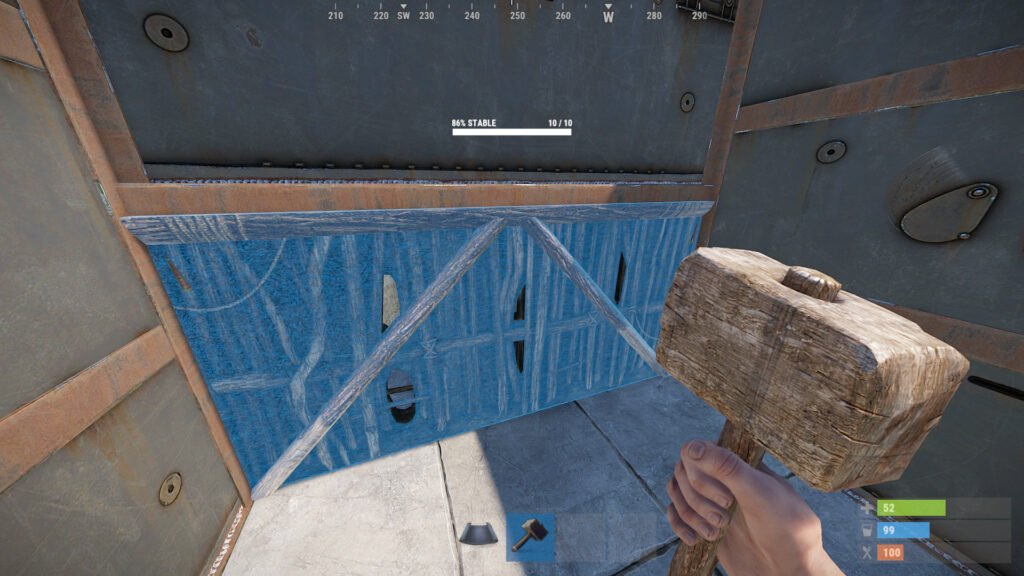 RUST Stability Bunker Example 1