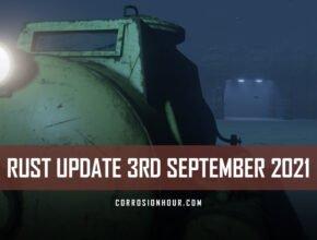RUST Update 3rd September 2021